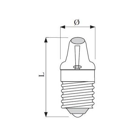 E10 závit lens-end 9x23 2,5V 300mA 0,75W C-2R