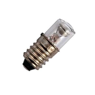 E10 závit T10x25 110/130V NEON-žárovka in sklo