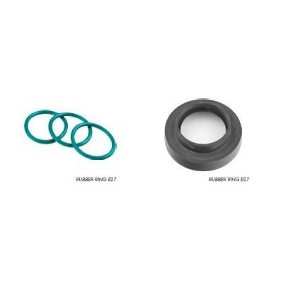 Gumový těsnící kroužek pro E27 závit FITTING (voděodolná) černá velká
