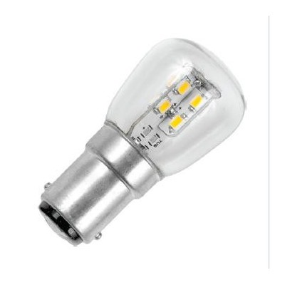 Ba15d patice stackled P26x55 220V 4+16 led (2835SMD) 90-105lm WW