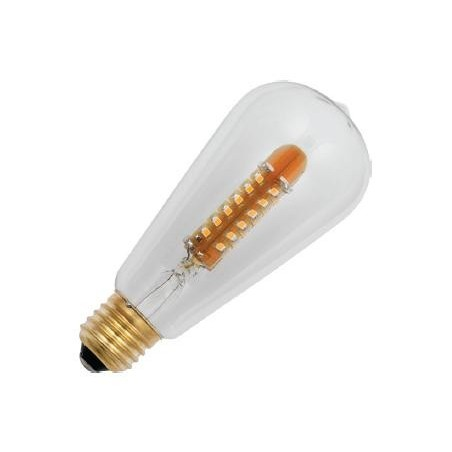 E27 závit COSY ST64x143mm 220-240v 2.8W AC 2200K  56x3528 MSD 140Lm stmívatelná 20Kh
