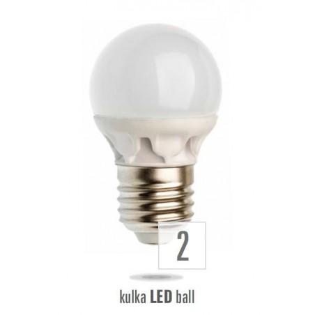 LED koule E27 230V 5W studená bílá