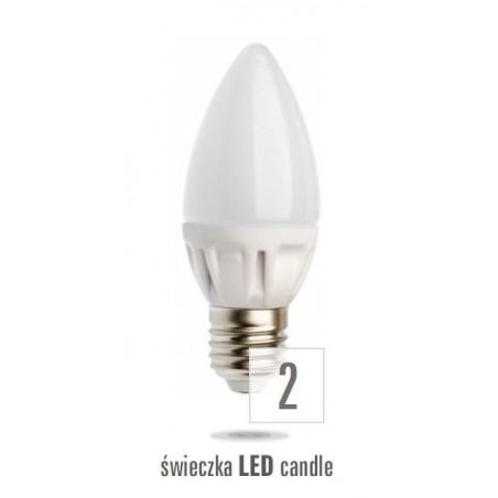 LED svíčka E27 230V 3,5W teplá bílá