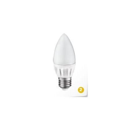 LED svíčka E27 230V 5W teplá bílá