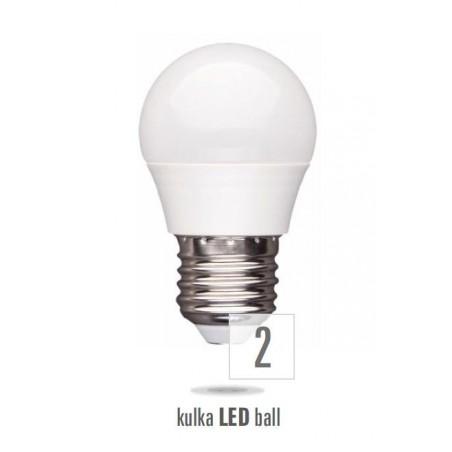 LED koule E27 230V 6W studená bílá