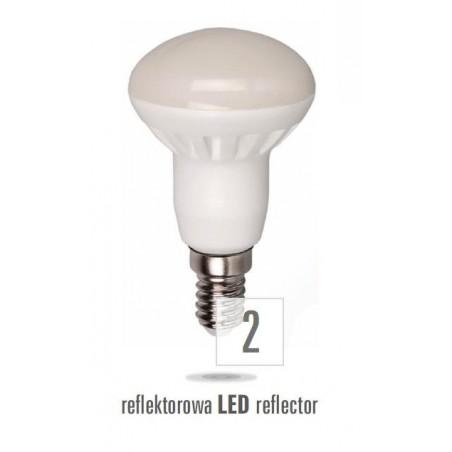 LED R50  E27 230V 6W teplá bílá  mléčná