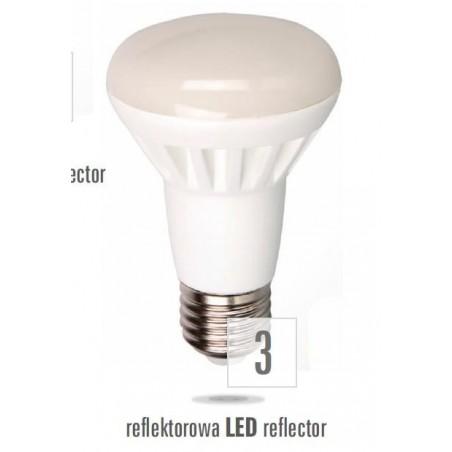 LED R63  E27 230V 8W studená bílá  mléčná