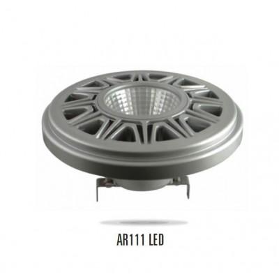 LED AR111 G53 12V 15W COB (čip na desce) 38° teplá bílá