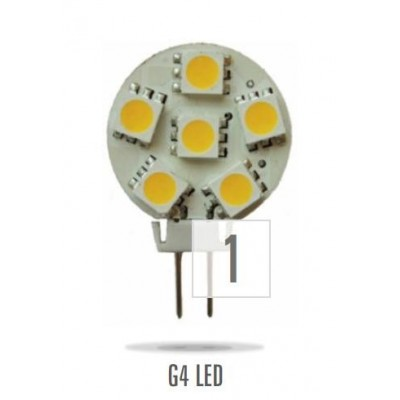 G4 LED 12V 1,2W 6LED teplá bílá 23mm