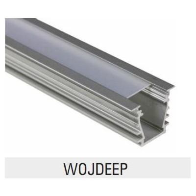 hliníkový profil s průhledným krytem hluboký pro LED