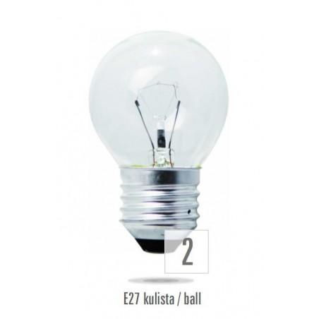 Koule  E27 60W čirá (zdroj není určen pro svícení v domácnosti)