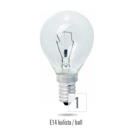 Koule  E14 60W čirá (zdroj není určen pro svícení v domácnosti)