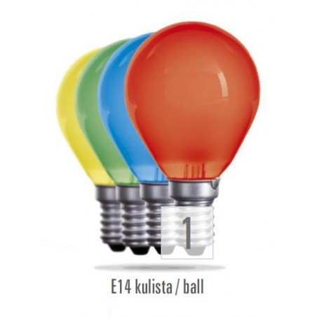 Koule  E14  15W červená (zdroj není určen pro svícení v domácnosti)