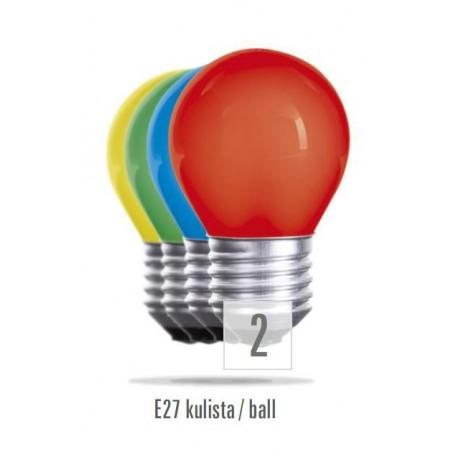 Koule  E27  15W  červená (zdroj není určen pro svícení v domácnosti)