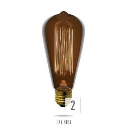 E27  40W/230V PRZ  Old Style ST57 (zdroj není určen pro svícení v domácnosti)