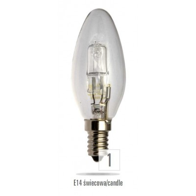Klasické halogenové 230V 42W E14 svíčka