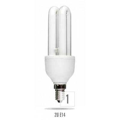 Úsporná žárovka 2U E14  9W 8000h