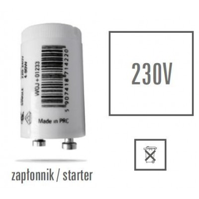 Startér lineární zářivky 4-22W