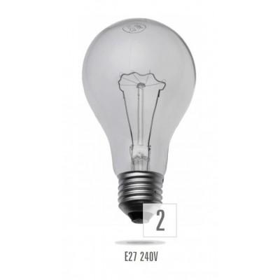 Nárazuodolná žárovka E27 100W/230V  (5 podpor) (zdroj není určen pro svícení v domácnosti)