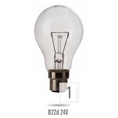 Žárovka B-22 100W/ 24V MS  (zdroj není určen pro svícení v domácnosti)
