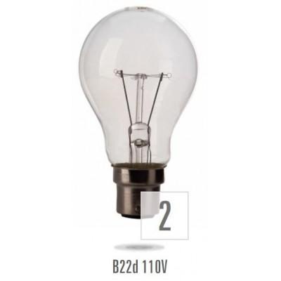 Žárovka B-22 60W/110V MS  (zdroj není určen pro svícení v domácnosti)