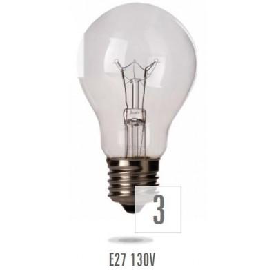 Žárovka E27 150W/130V (zdroj není určen pro svícení v domácnosti)
