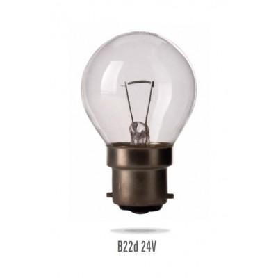 Signalizační žárovka B-22 5W/24V small bulb MS  (zdroj není určen pro svícení v domácnosti)
