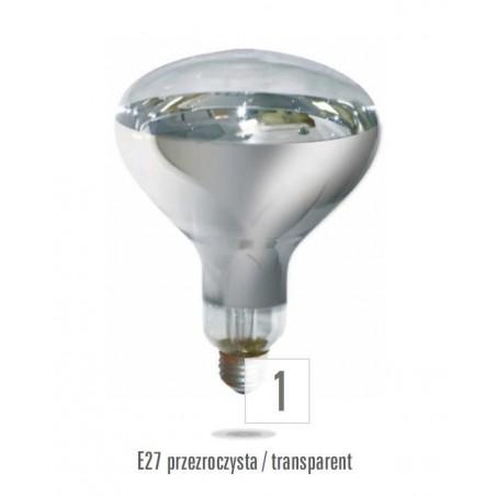 Infračervený osvětlovač E27 175W 230V 3000h (zdroj není určen pro svícení v domácnosti)