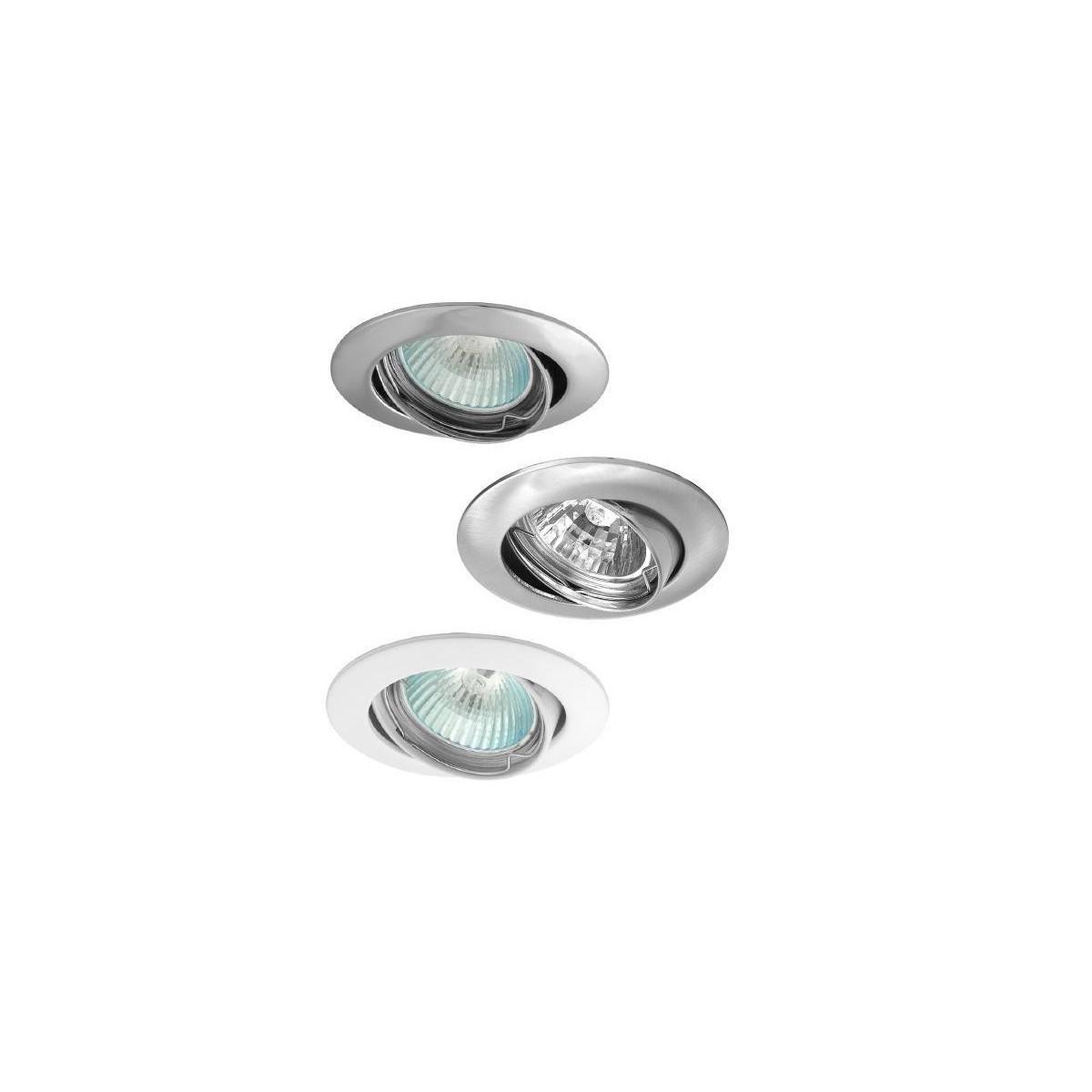 Bodovka - vestavné bodové svítidlo výklopné, GU10, chrom, Ø  82 mm