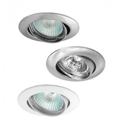 Bodovka - vestavné bodové svítidlo výklopné, GU10, bílá, Ø  82 mm