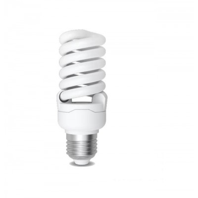 Úsporná žárovka Spiral E27 18W 2700°K