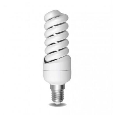 Úsporná žárovka Spiral E14 14W 6400°K