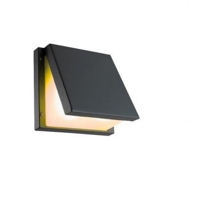 Venkovní svítidlo – nástěnné, IP54, pro zdroje s paticí 2xE27 (max. 45 x 90 mm), stříbrné. Provedení hliník.