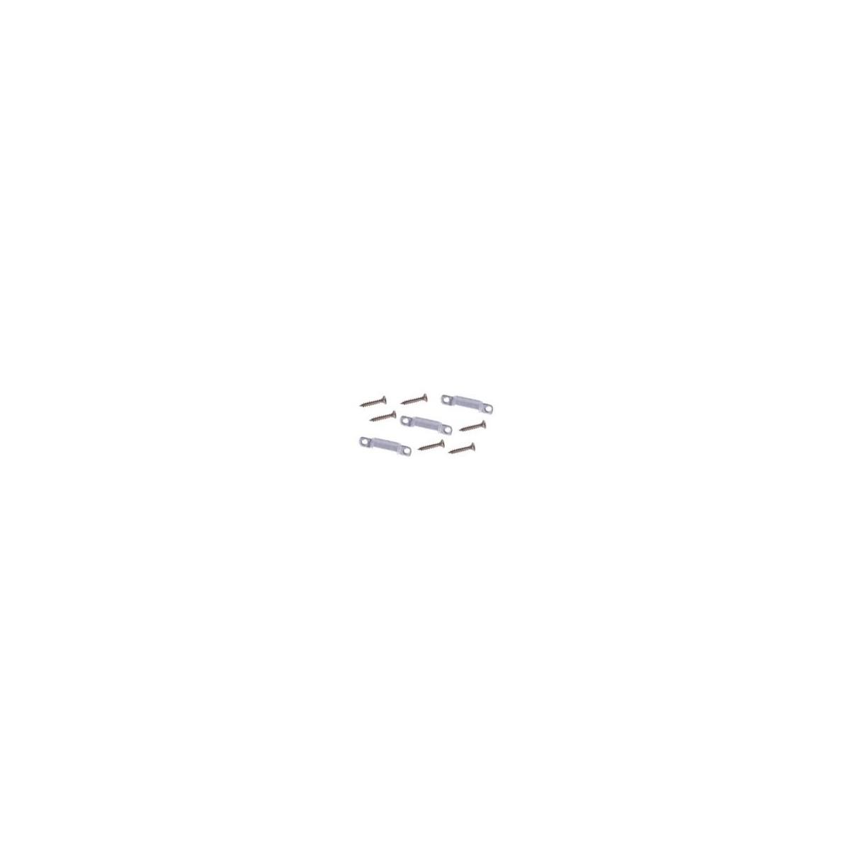 Upevňovací spony + šroubky ( 5 spon + 10 šroubů )