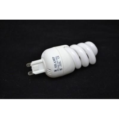 Úsporná žárovka micro spirála G9 230V 15W 6400°K