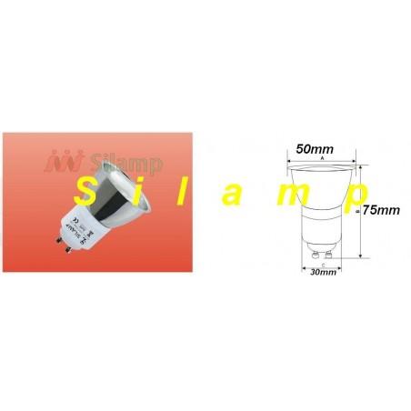 Úsporná žárovka GU10 12W 6400°K