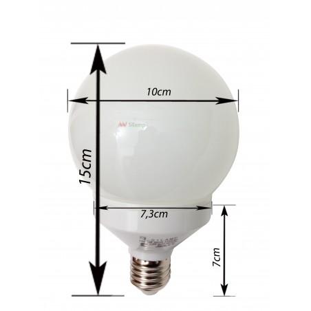 LED žárovka koule o výkonu 10W 6400°K