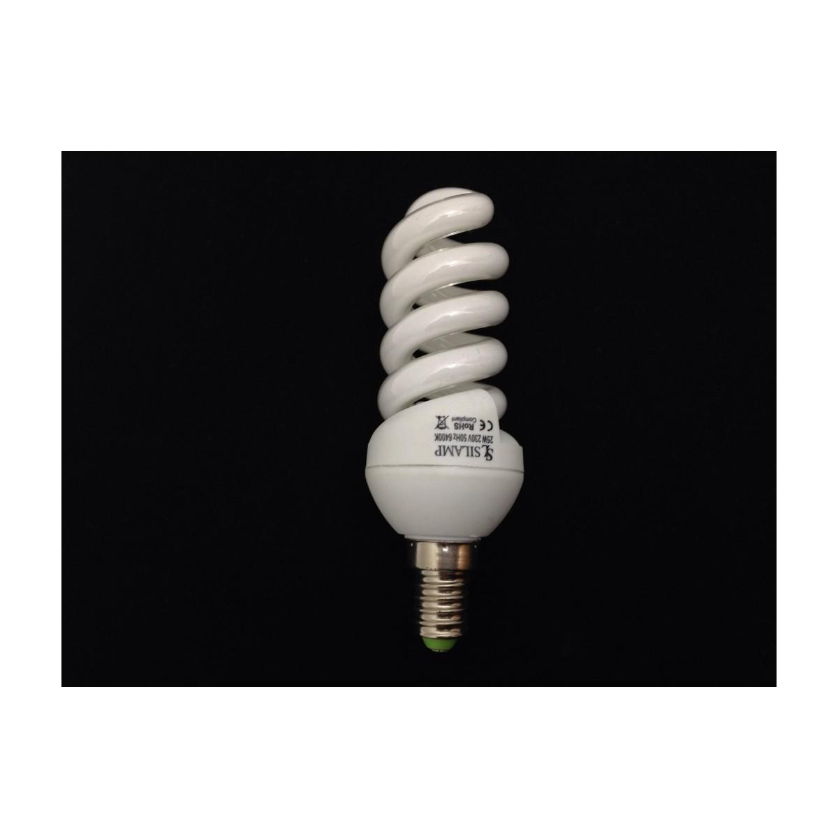 Úsporná žárovka spirála E14 15W 6400°K