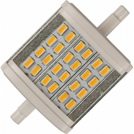 LED R7s 78x45x40mm 600Lm 8W 3000K 830 180° AC 85-265V  čirá není stmívatelná