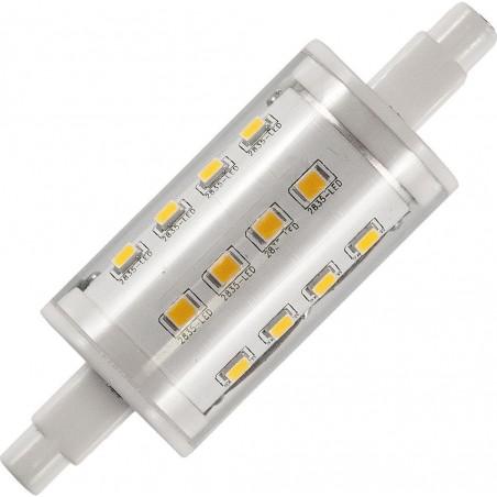 LED R7s Ø25x78mm 450Lm 5W 3000K 830 360° AC 85-265V  čirá není stmívatelná