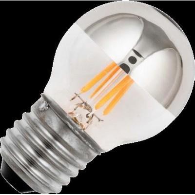 E27 LED koule vlákno Top-Mirror G45x72mm 150Lm 4W 922 TR-stmívatelná stříbrná