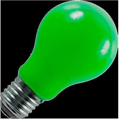 E27 LED vlákno GLS A60x105mm 1Wnení stmívatelná zelená