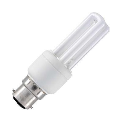 CFL B22 2U Sticks 230V 8W 36x119 450Lm 2700K 10.000h