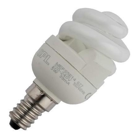 CFL E14 T2 spirála 230V 7W 39x88 480Lm 2700K 10.000h