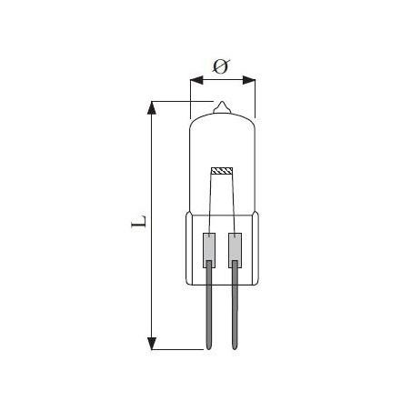 Halo G4 8x31mm 12v 5W čirá Transversal 2.000h UV Stop