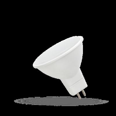 LED MR16 12V 6W SMD teplá bílá 2700 - 3300K (žluté světlo) mléčný kryt