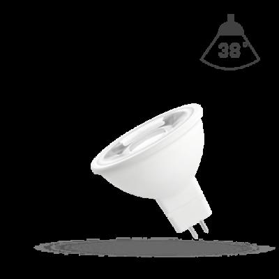 LED MR16 12V 4W SMD teplá bílá 2700 - 3300K (žluté světlo) s čočkou