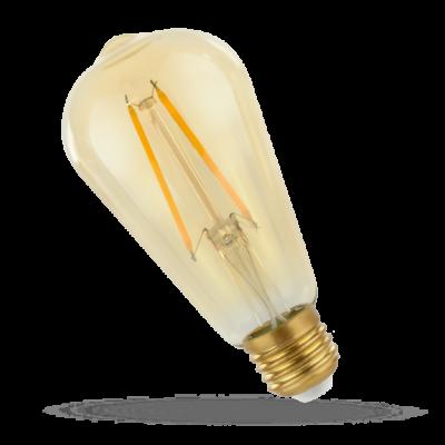 LED ST64 E-27 230V 2W COG čip na skle teplá bílá 2700 - 3300K (žluté světlo) retro záře