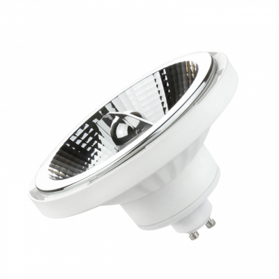 LED AR111 GU10 230V 15W SMD 45° teplá bílá 2700 - 3300K (žluté světlo) bílé provedení