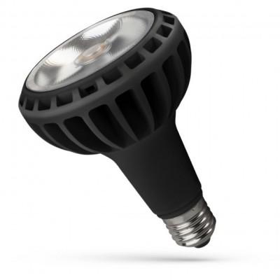 LED PAR30 E27 230V 20W 2000lm COB čip na desce 24° teplá bílá 2700 - 3300K (žluté světlo) černá varianta